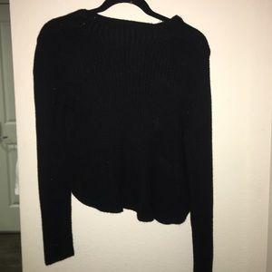 Black shift sweater